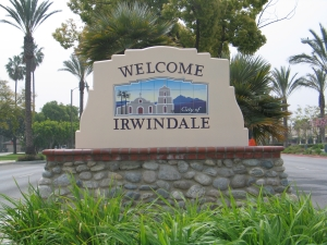 Irwindale Welcoming Sign