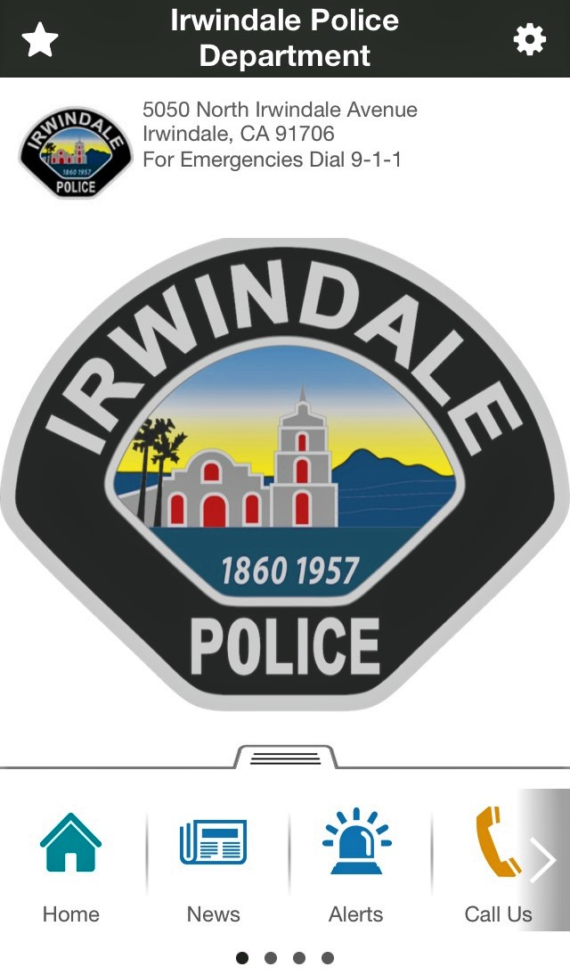 Irvindale Police Department Mobile App 1