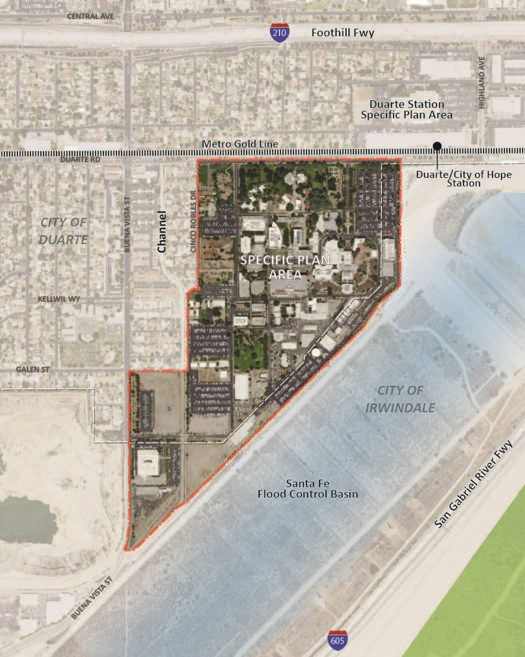 City of Hope Specific Plan Map