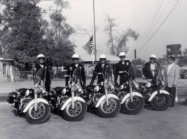 Two members of First Irwindale Motorcycle Unit in 1960 (1)