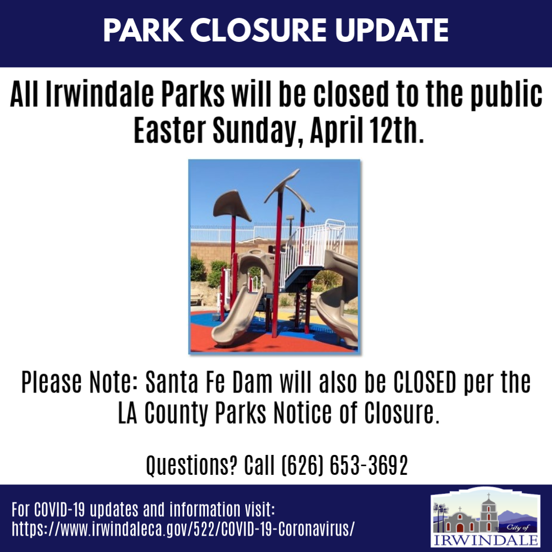 Park Closure Easter