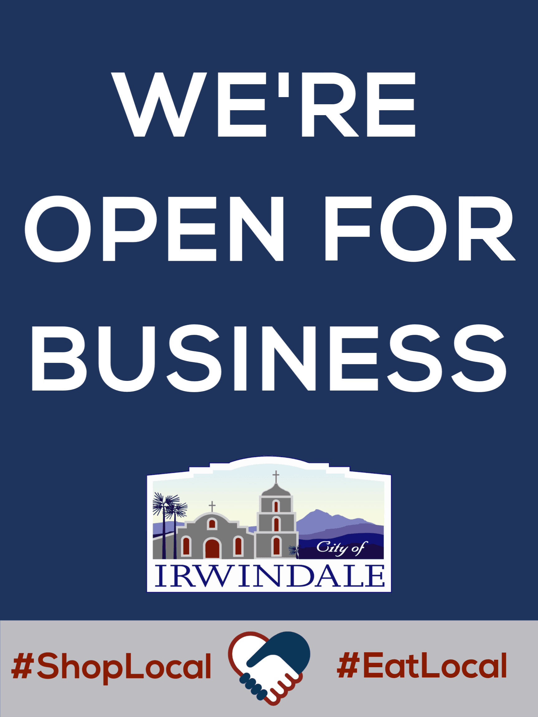 We&#39re Open for Business