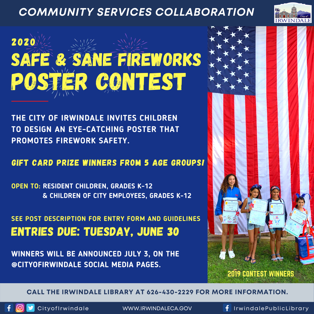 Safe and Sane Fireworks Poster Contest 2020 - Social Media