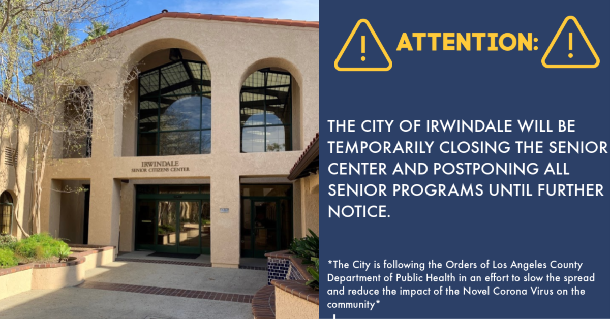 Senior Center Closure