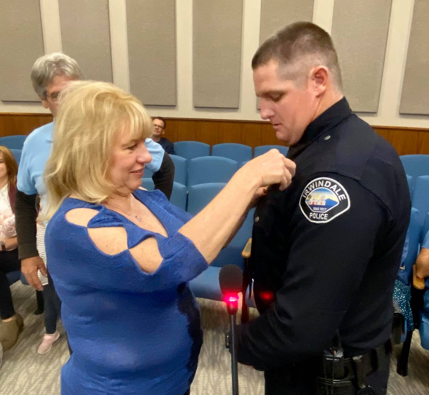 Photo of Officer O'Brein Being Sworn In 1