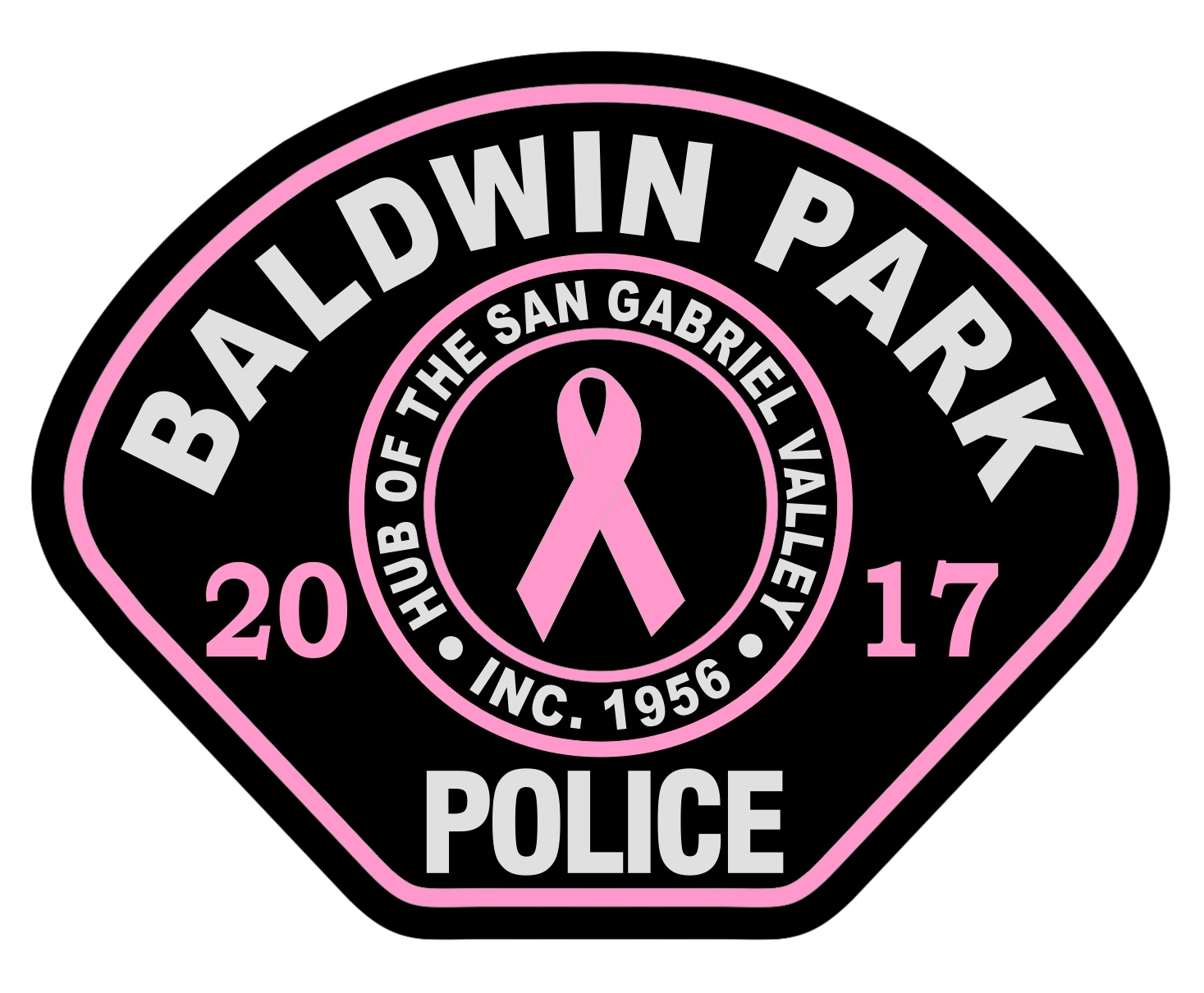 Baldwin Park Police (CA) - PINK PATCH 2017 (6-14-1