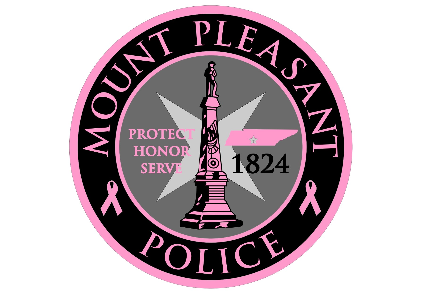 Mt. Pleasant Police TN PINK PATCH