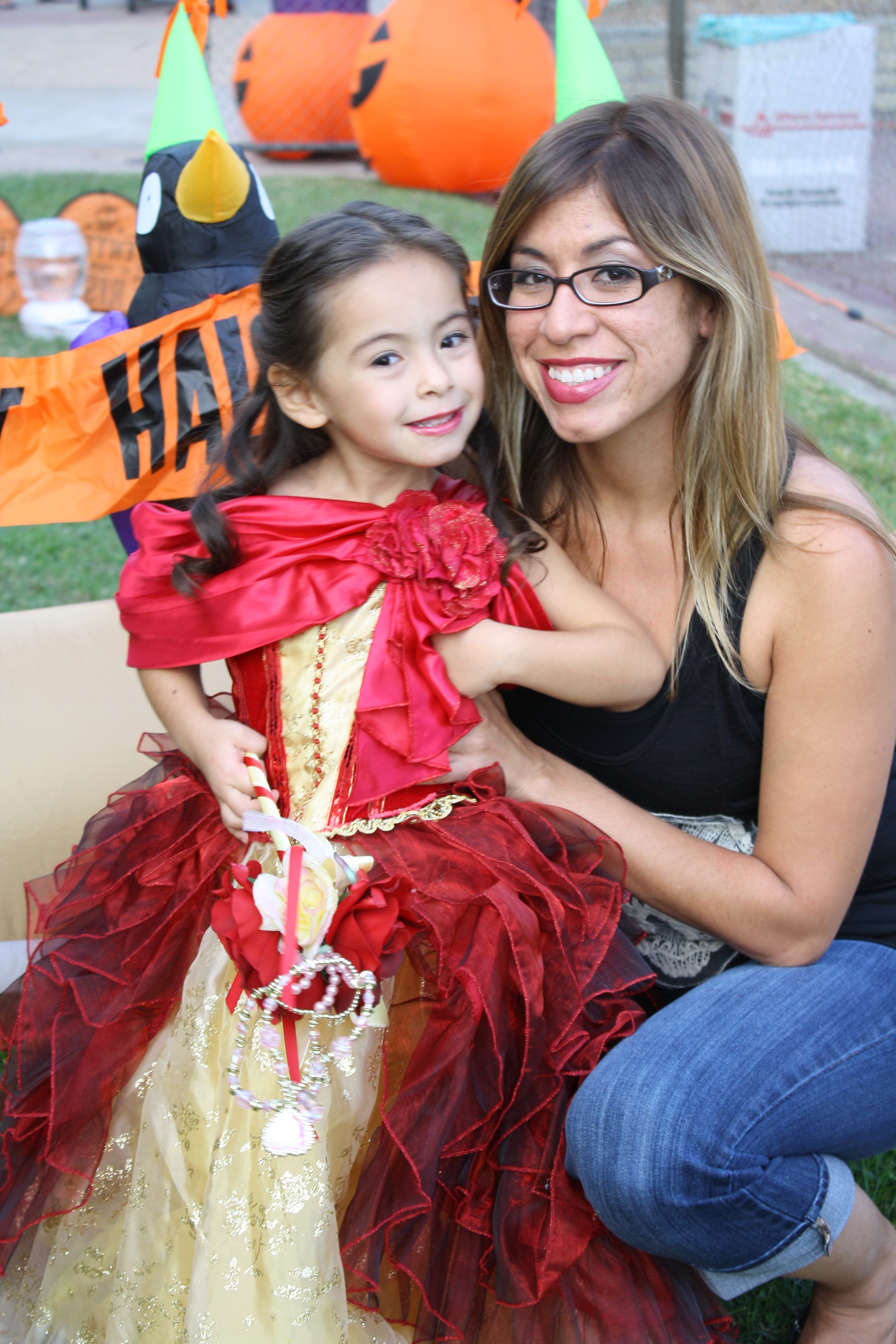 mother and daughter halloween picture